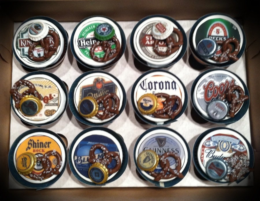 Beer Themed Cupcake Toppers on Cake Central