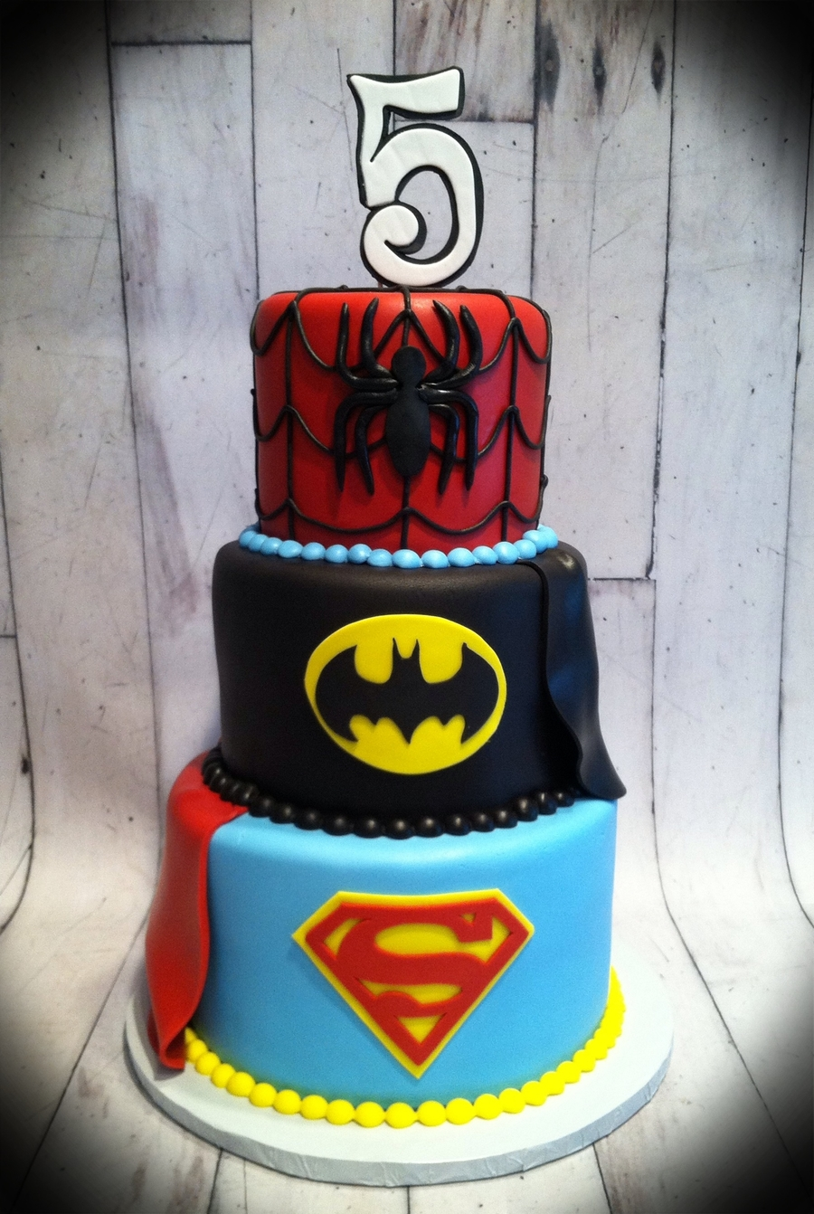 Superhero Cake on Cake Central