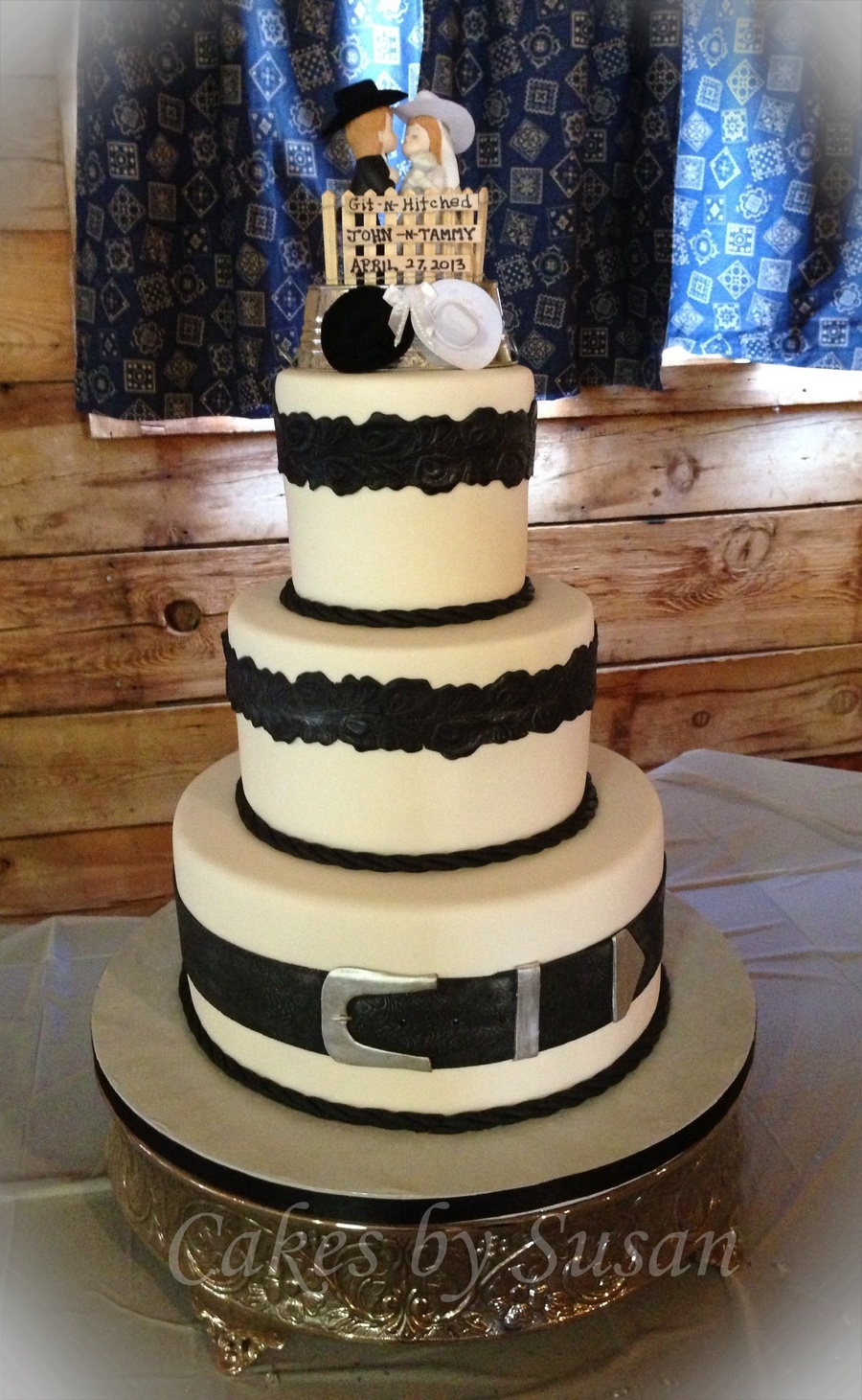 Black And White Western Wedding Cake on Cake Central