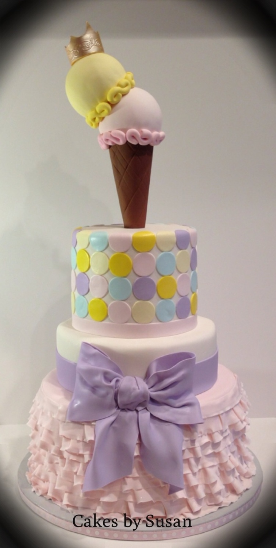 Ice Cream Themed Birthday Cake on Cake Central