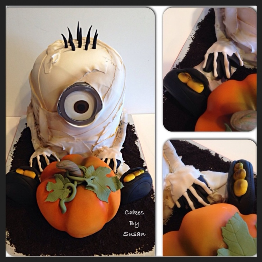 Mummy Minion Halloween Cake Cakecentral Com