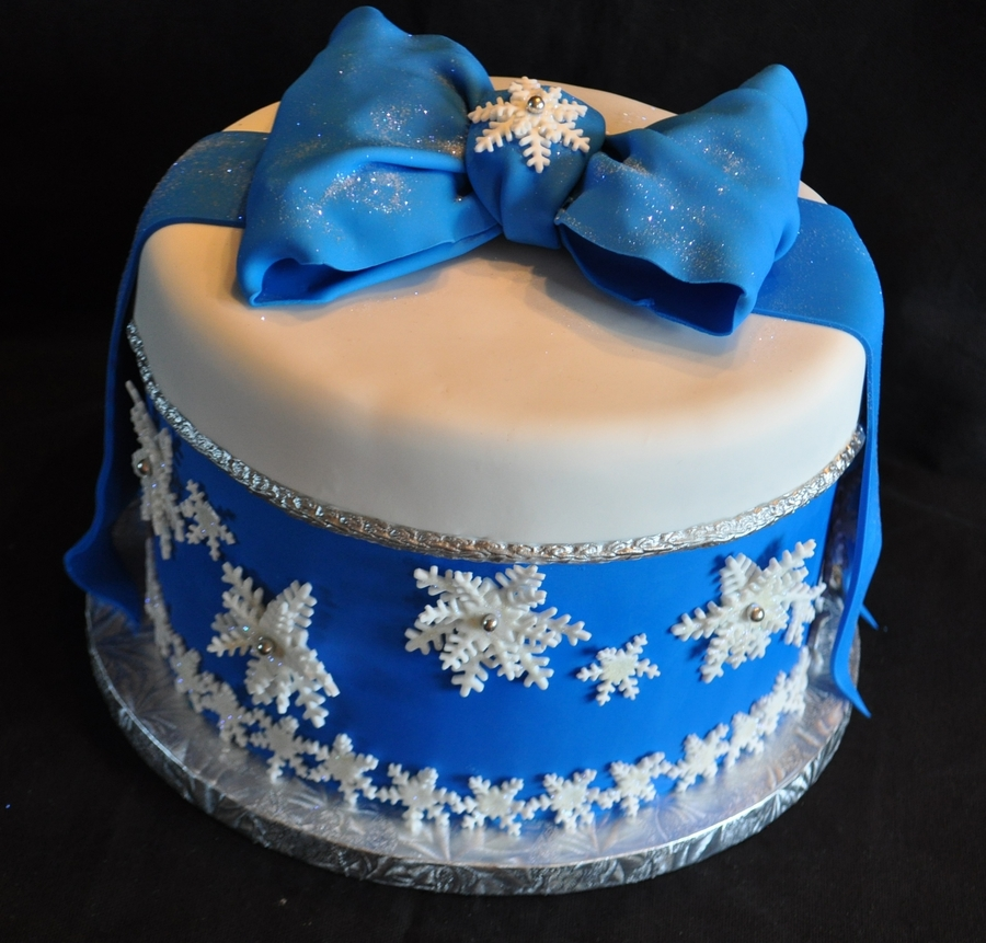 Snowflake Cake on Cake Central