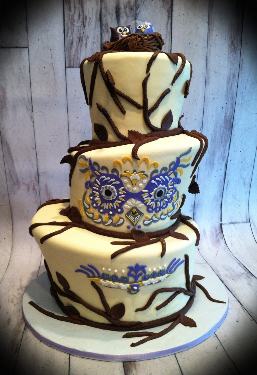 Owl Themed Wedding on Cake Central