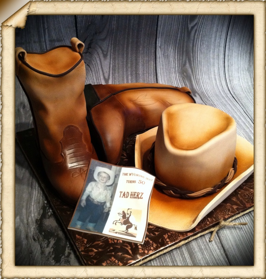 Western Boots And Hat on Cake Central