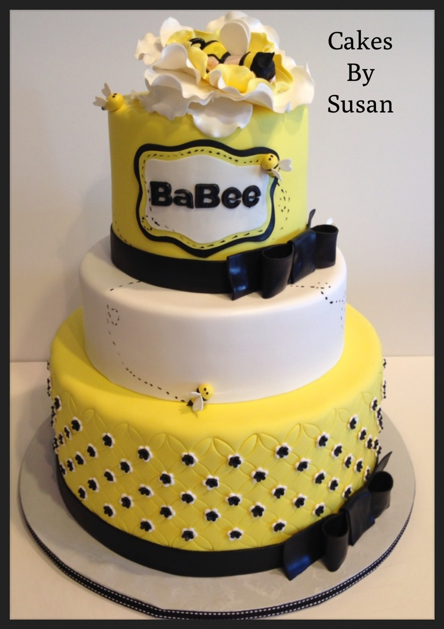 Bumble Bee Baby Shower Cake Cakecentral Com