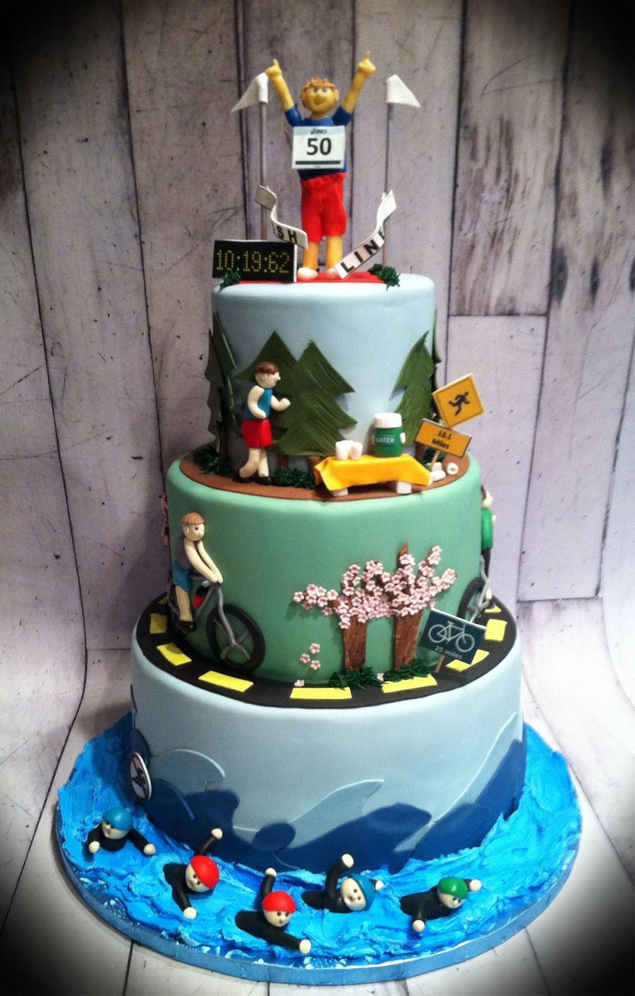 Triathlon Cake Cakecentral Com