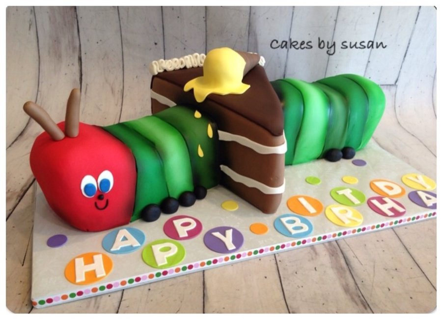Hungry Caterpillar Eating Cake Birthday Cake on Cake Central