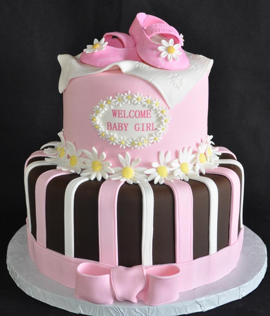 Daisy Baby Shower Cake - CakeCentral.com
