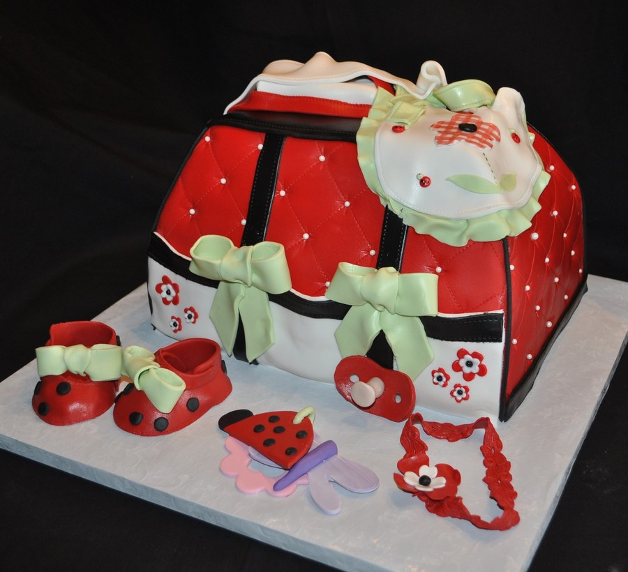 Lady Bug Diaper Bag on Cake Central