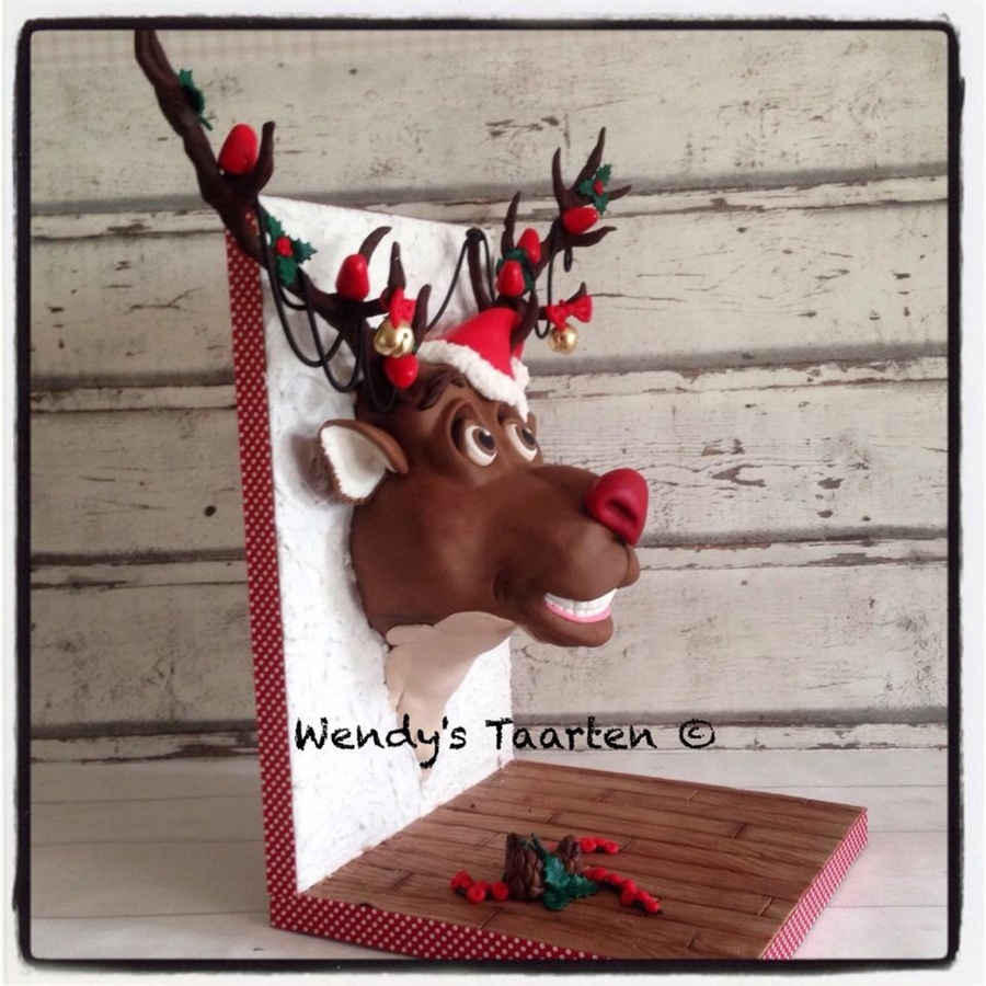 Rudolph The Red Nose Reindeer Armature Cake - CakeCentral.com