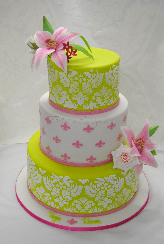 Fleur De Lis Wedding Cake Cakecentral Com