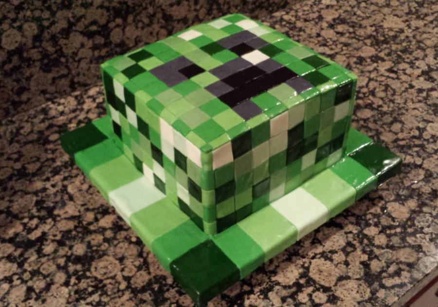 Minecraft Creeper Birthday Cake Recipe