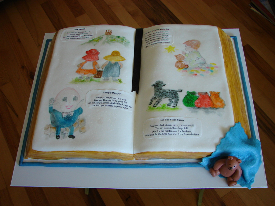 storybook baby shower cake