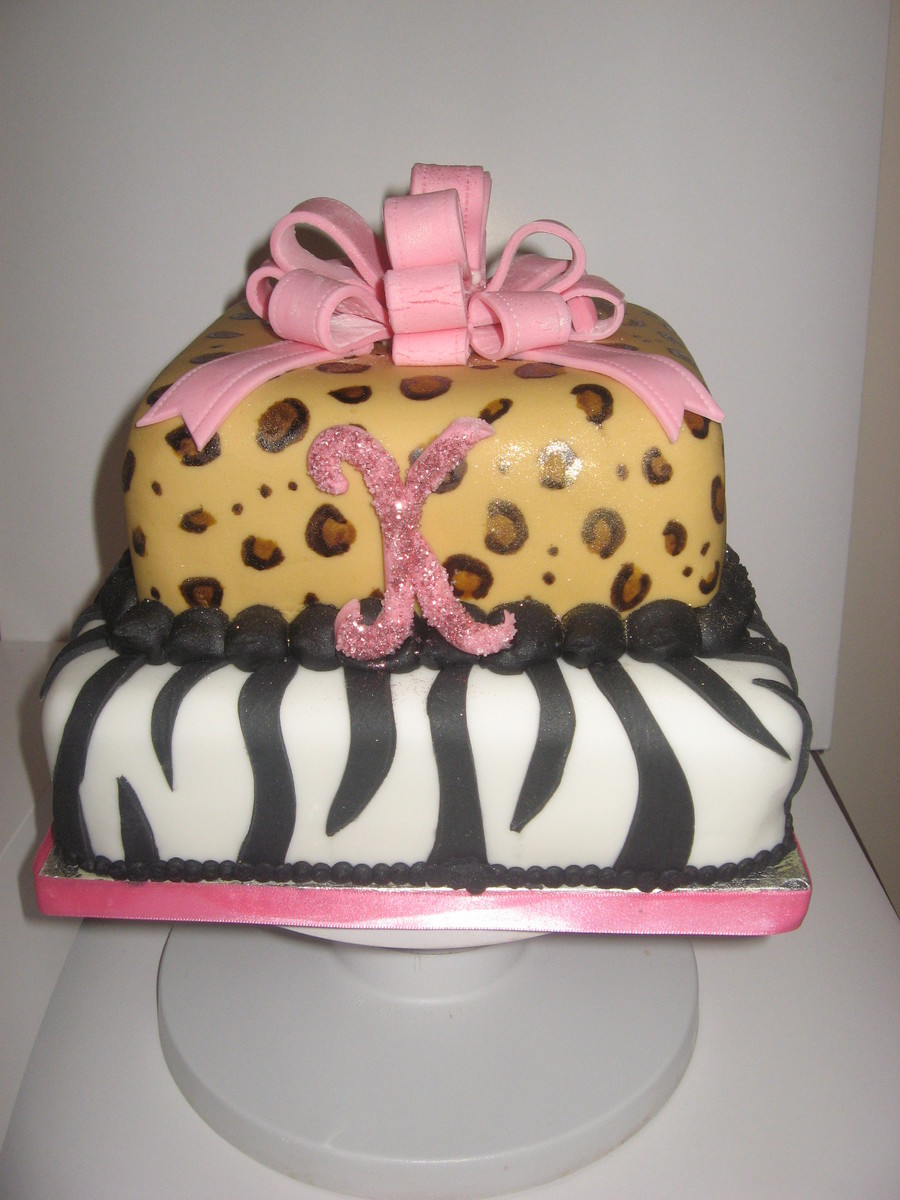Birthday Cake Pictures To Print : Animal Print Birthday Cake - CakeCentral.com