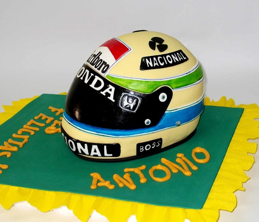 Casco Ayrton Senna on Cake Central