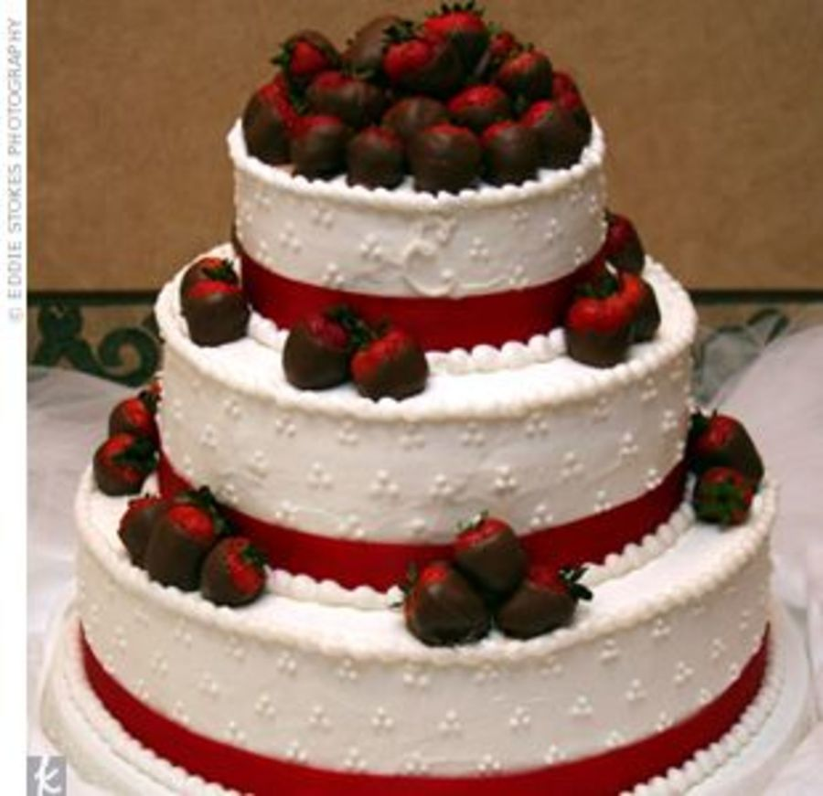 Chocolate Covered Strawberry Wedding Cake Cakecentral Com