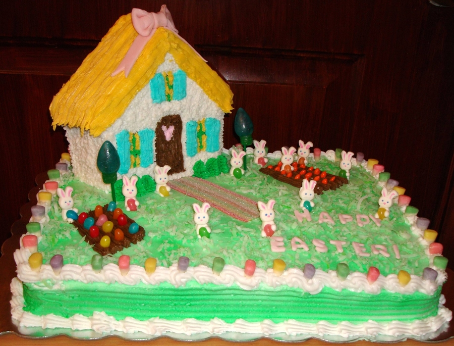 Bunny House on Cake Central