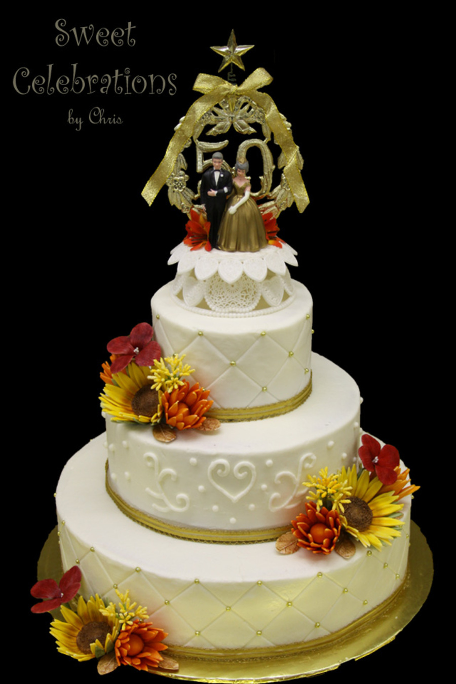50Th Wedding Anniversary Cake CakeCentralcom