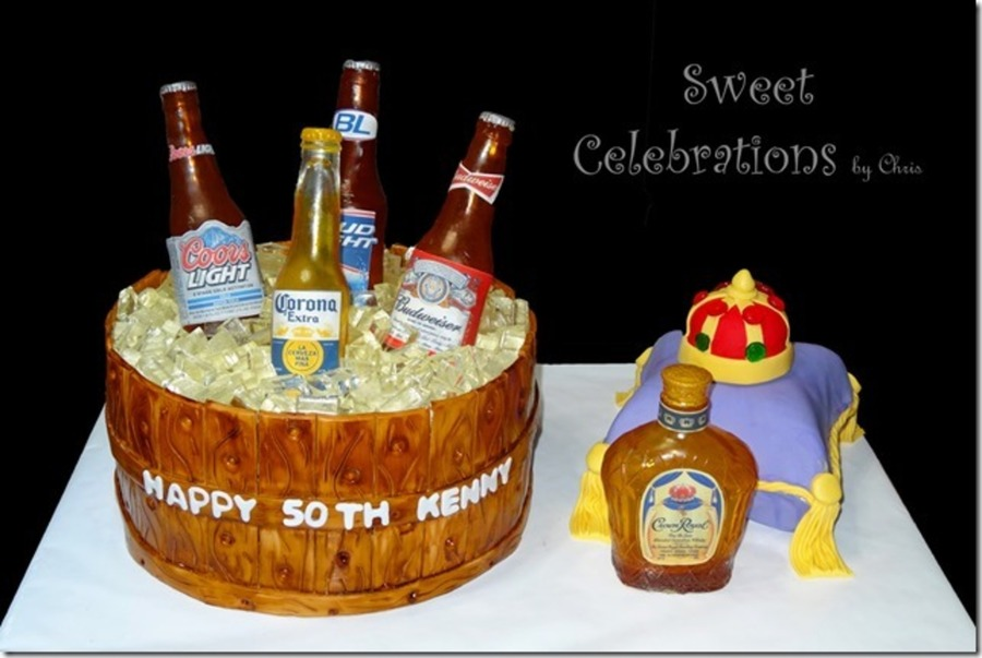 Outstanding 50Th Birthday Cake For The Owner Of A Local Liquor Store The Funny Birthday Cards Online Elaedamsfinfo
