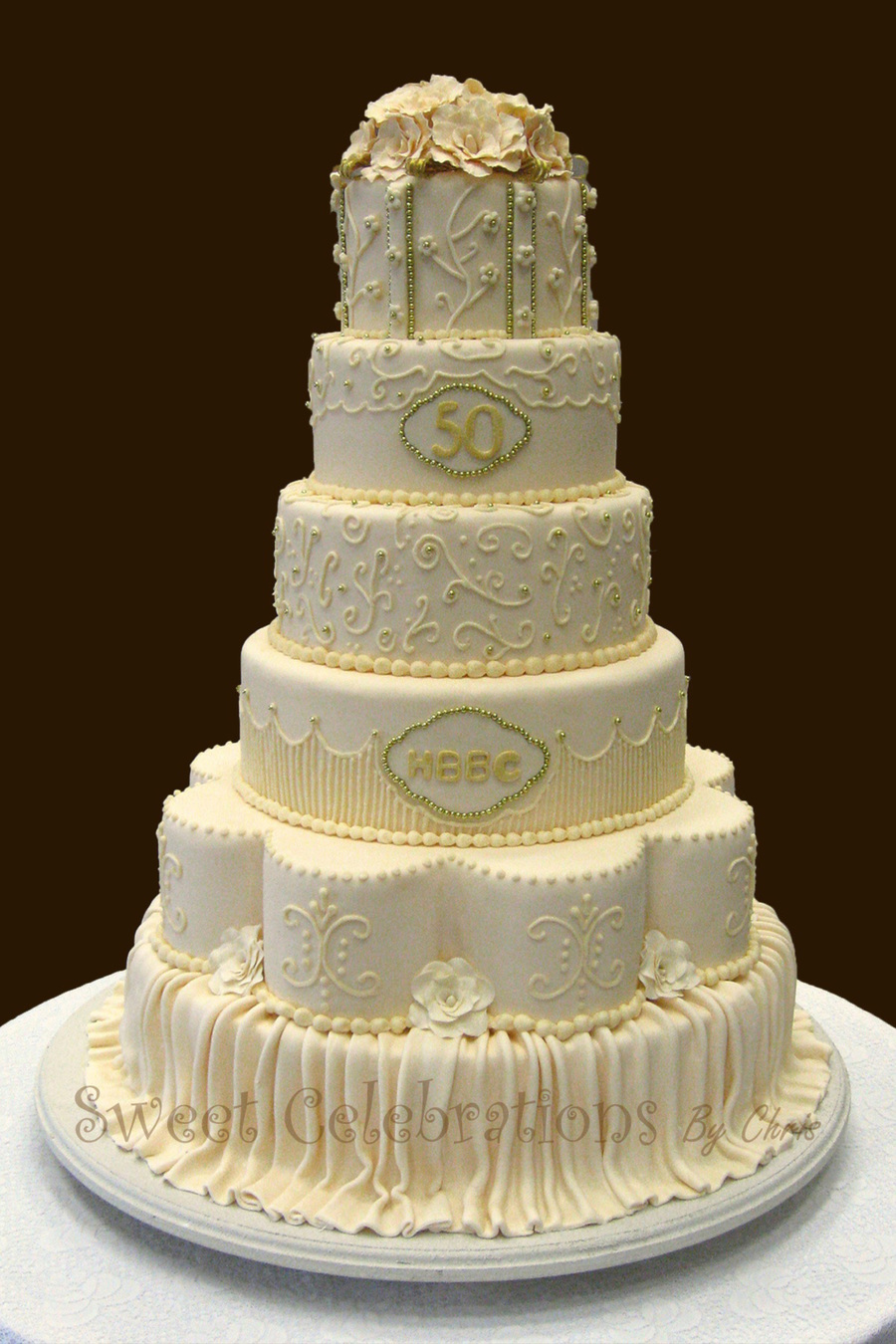 50th wedding anniversary cake for Anniversary cake decoration