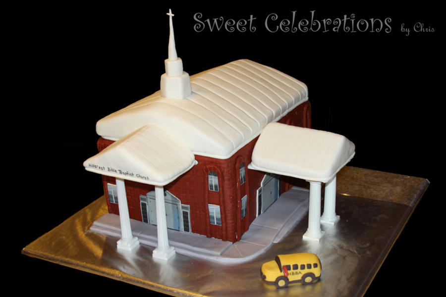 This Is A Replica Of Hillcrest Bible Baptist Church on Cake Central