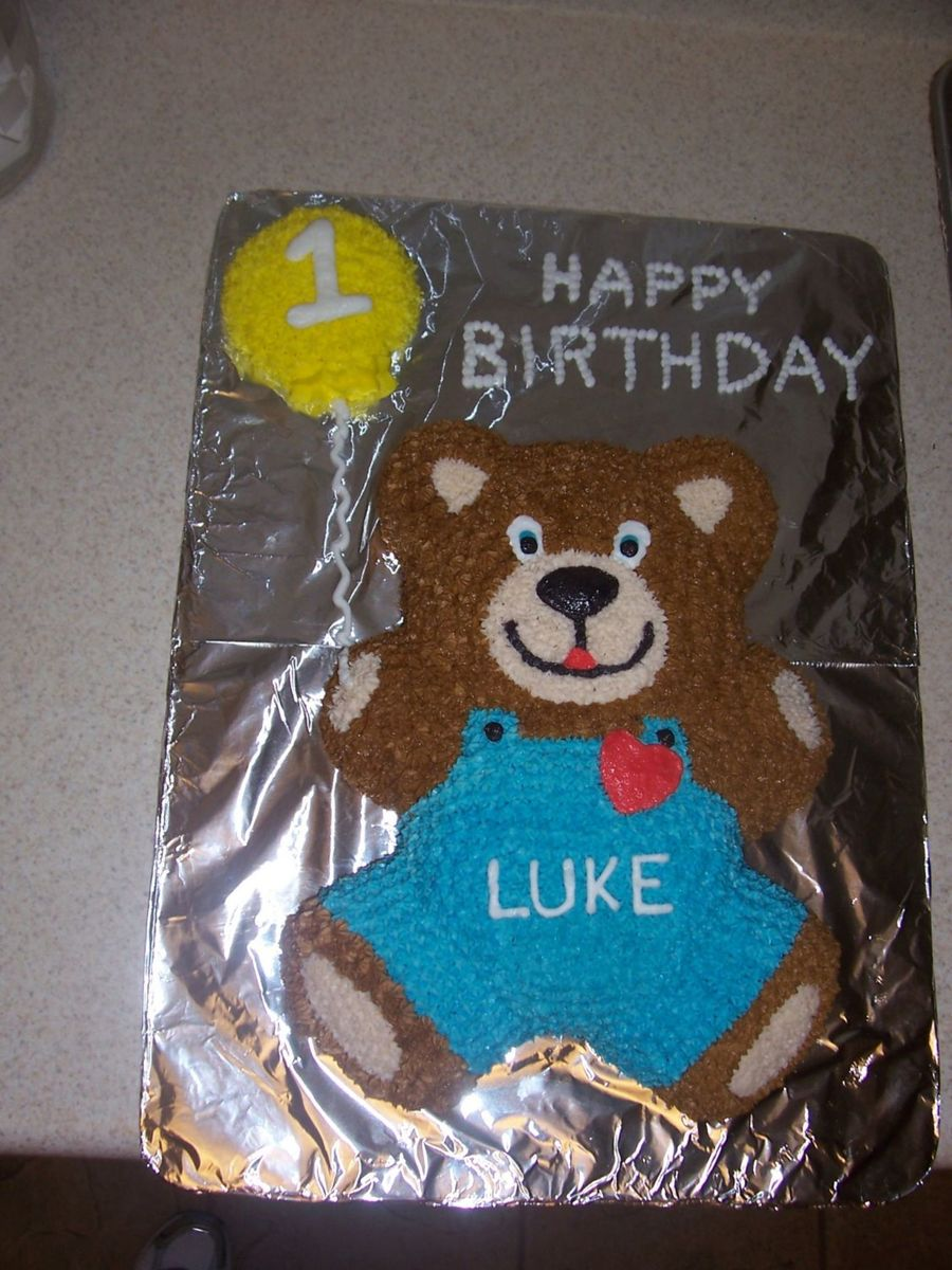 1St Birthday Bear on Cake Central