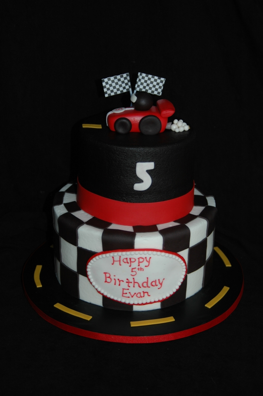 Race Car Birthday Cakecentral Com