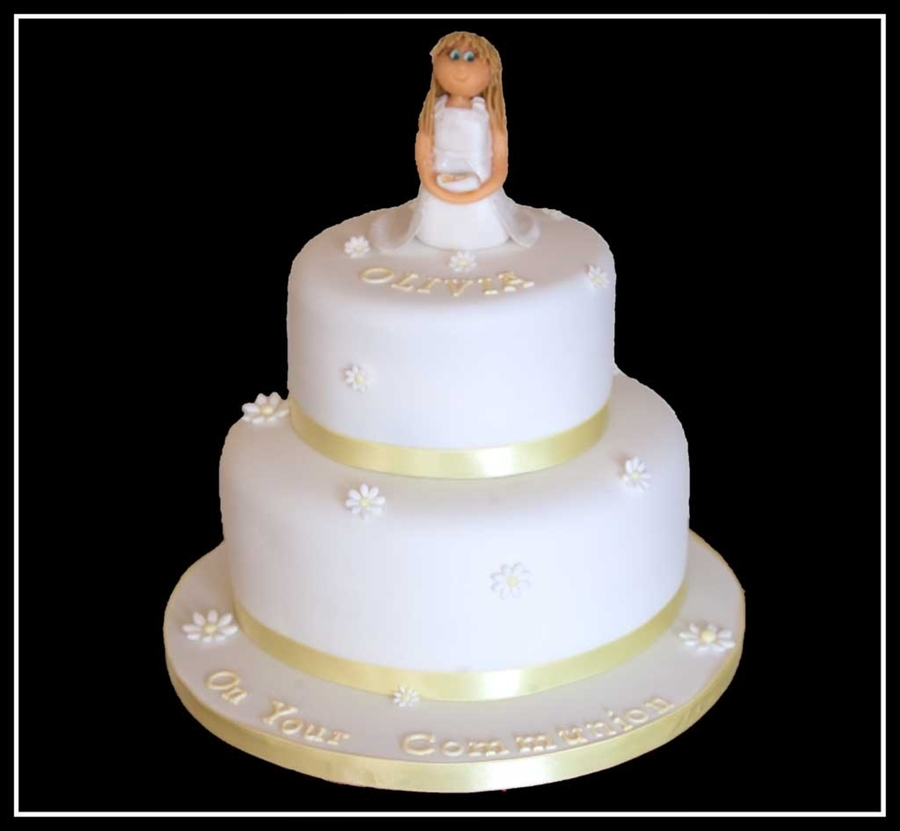Olivia's Communion Cake on Cake Central