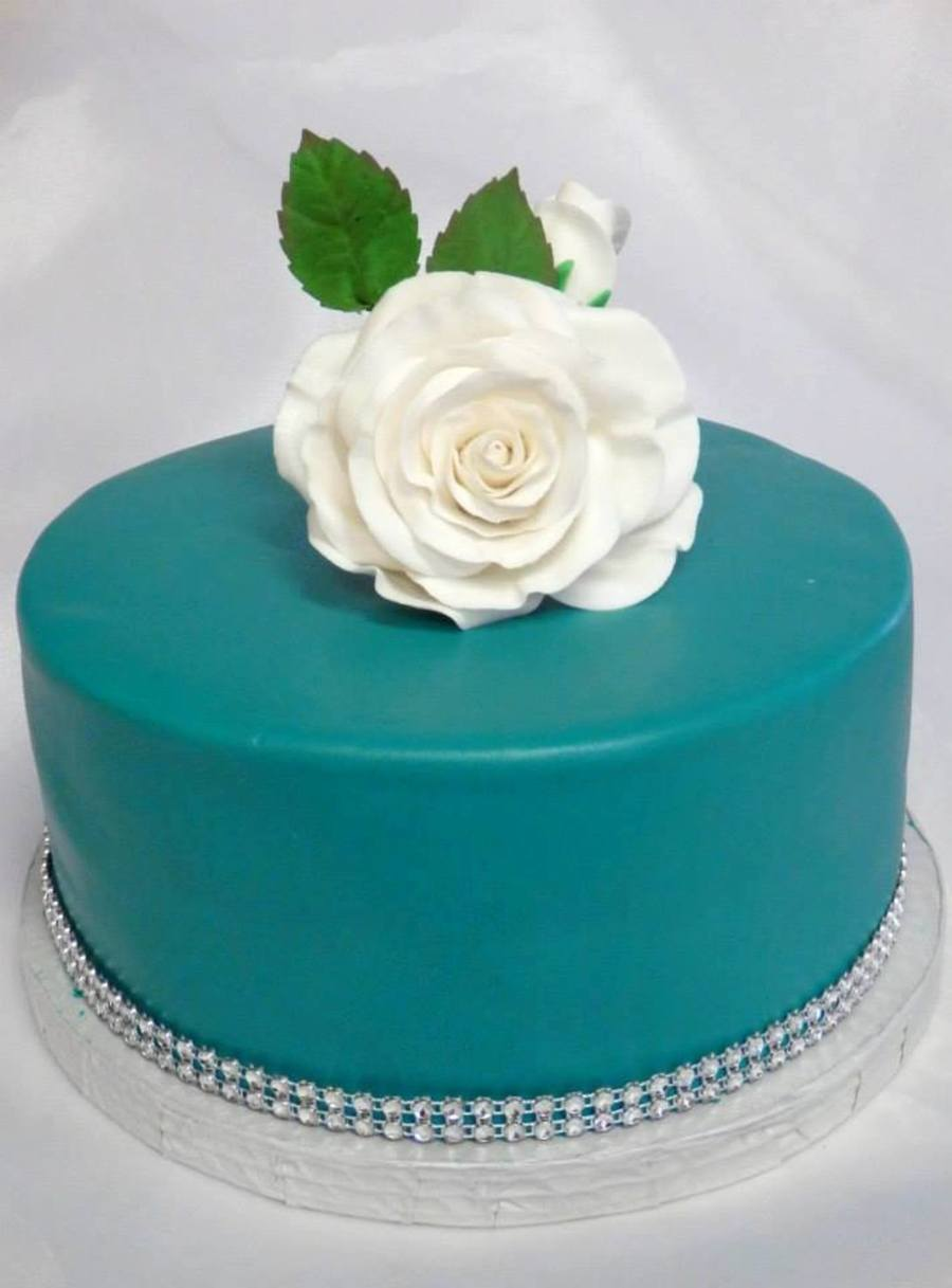 Birthday Cake Turquoise Color With Some Black To Deepen It