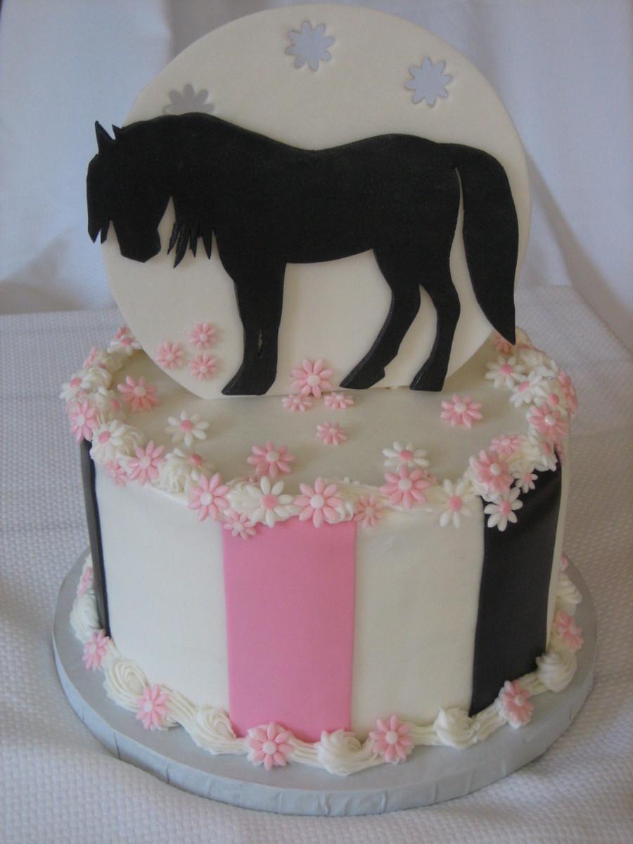 Silhouette Horse Cake Cakecentral Com
