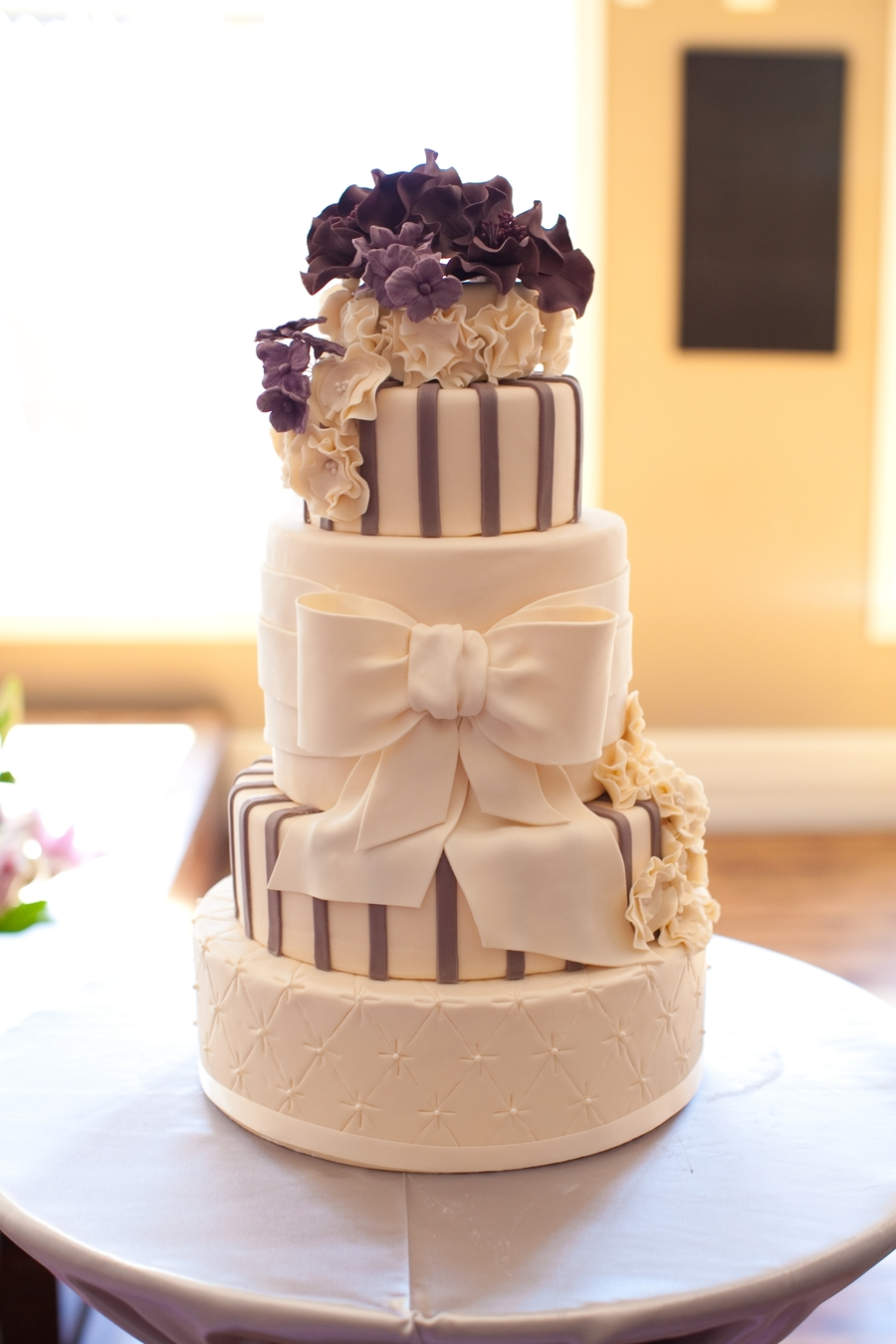 Purple Elegance on Cake Central