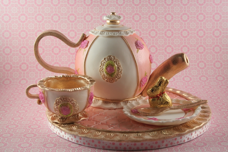 Teapot And Cups on Cake Central
