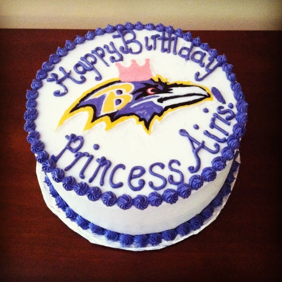 Marvelous Baltimore Ravens Birthday Cake Cakecentral Com Birthday Cards Printable Opercafe Filternl