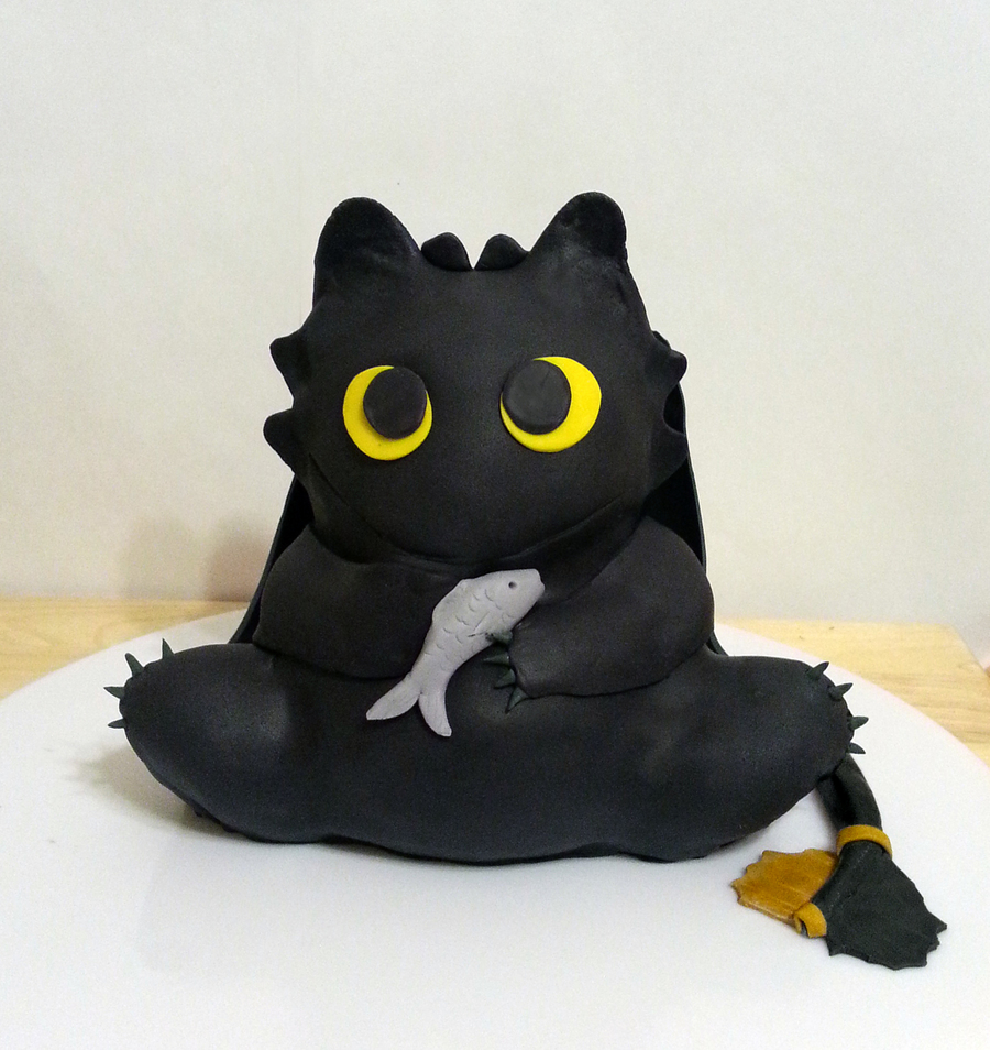 Easy Toothless Cake
