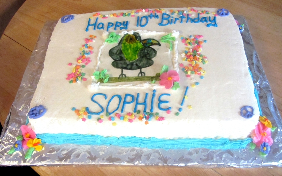 Strange Sophies 10Th Birthday Cake Cakecentral Com Birthday Cards Printable Nowaargucafe Filternl