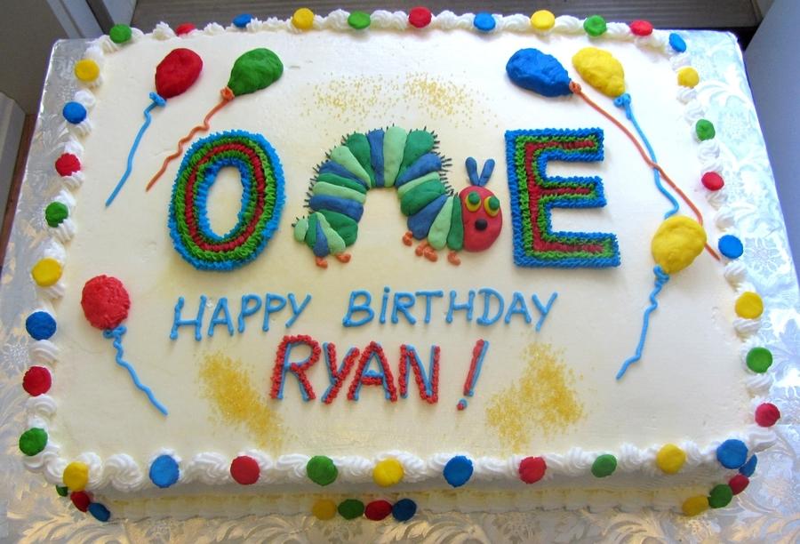 Stupendous Hungry Caterpillar Birthday Cake Cakecentral Com Personalised Birthday Cards Veneteletsinfo