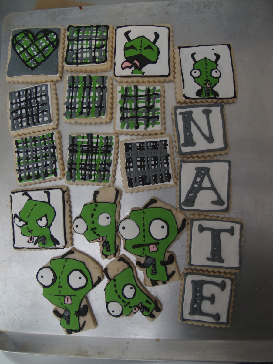 Invader Zim Cookies  on Cake Central