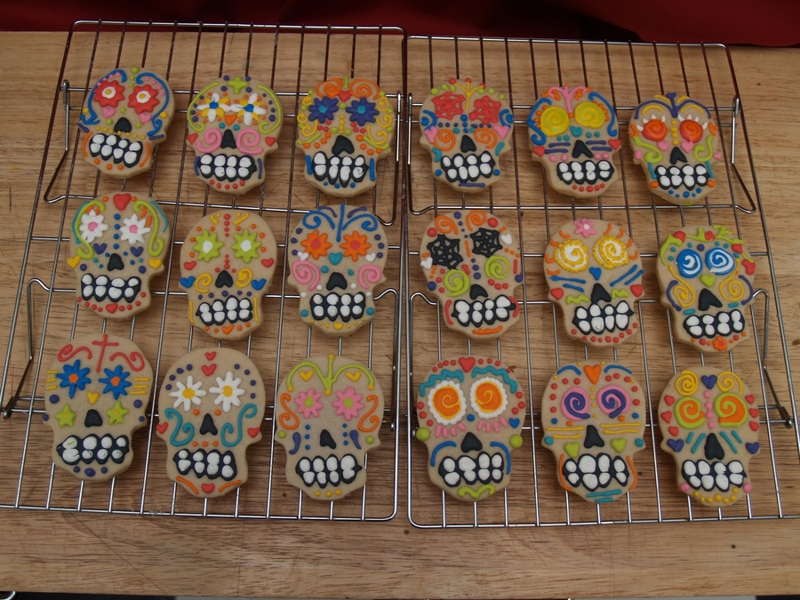 Shortbread Sugar Skulls on Cake Central