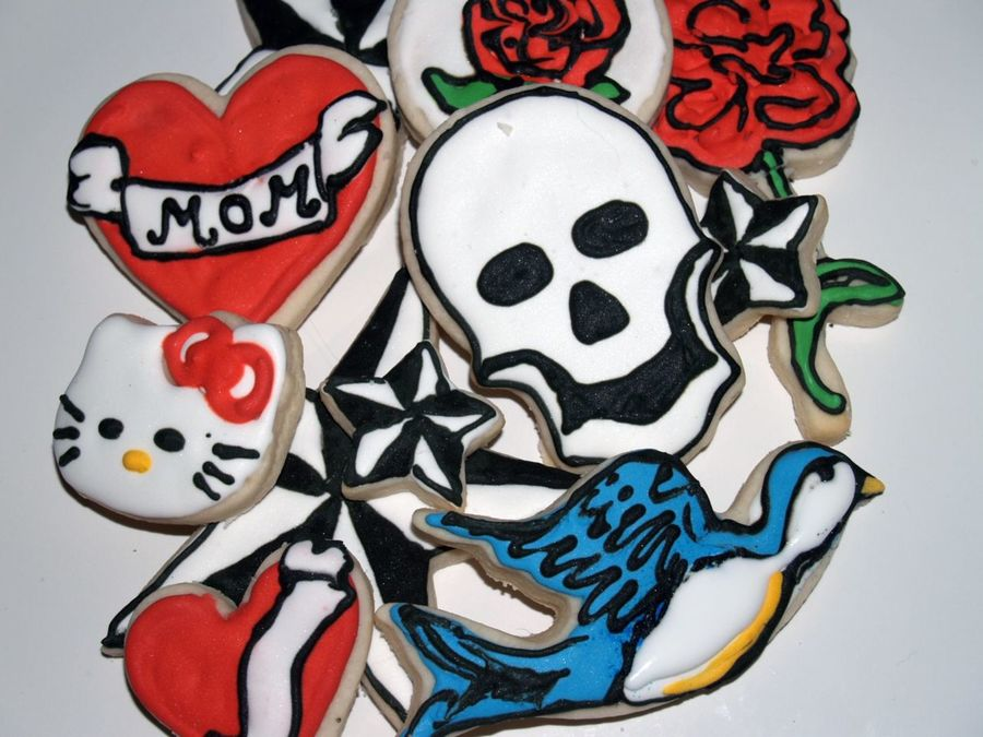 """tattoo"" Cut-Outs on Cake Central"