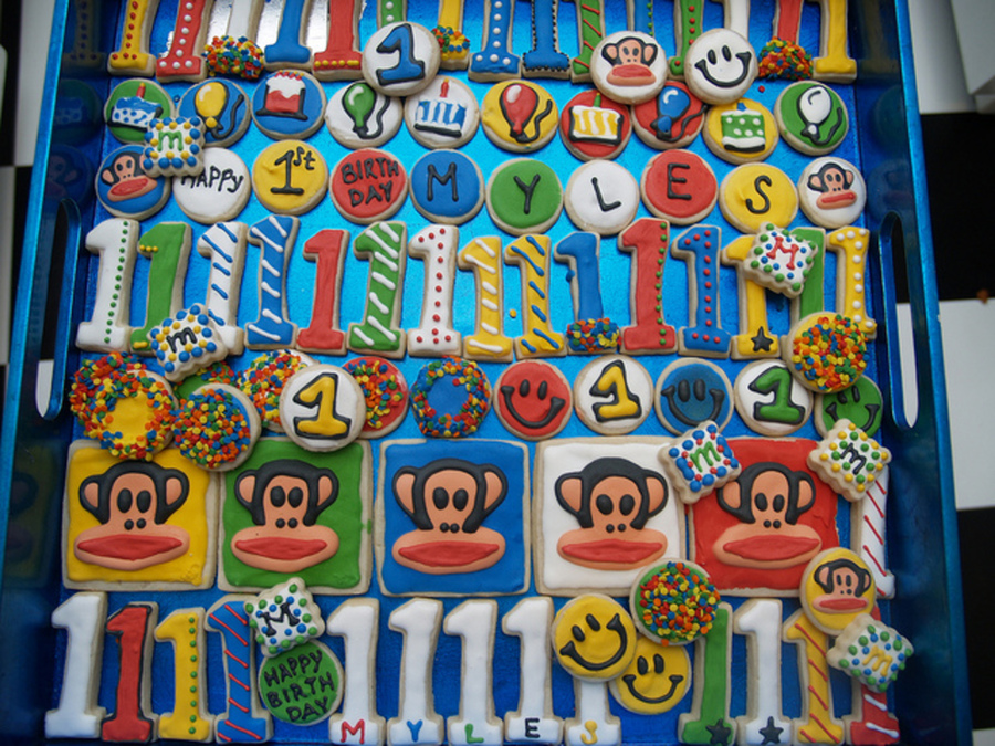 Paul Frank 1St Birthday Cookies on Cake Central