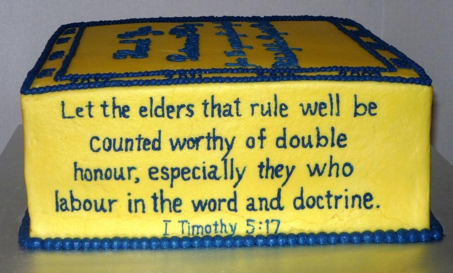 Pastor's Church Anniversary Celebration - CakeCentral.com
