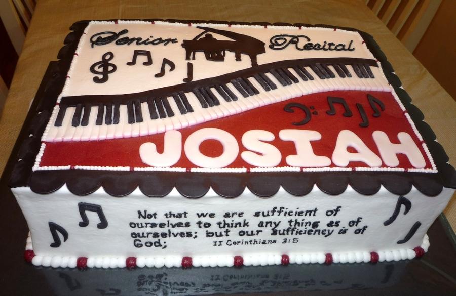 Josiah s Senior Piano Recital Cake - CakeCentral.com