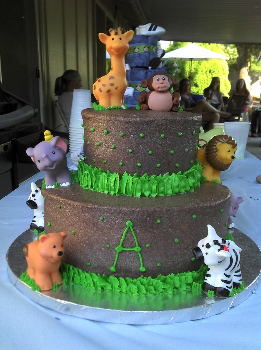 Safari Jungle Baby Shower Cakecentralcom