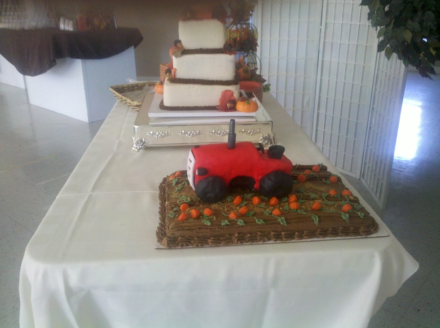 Groom's Tractor Cake on Cake Central