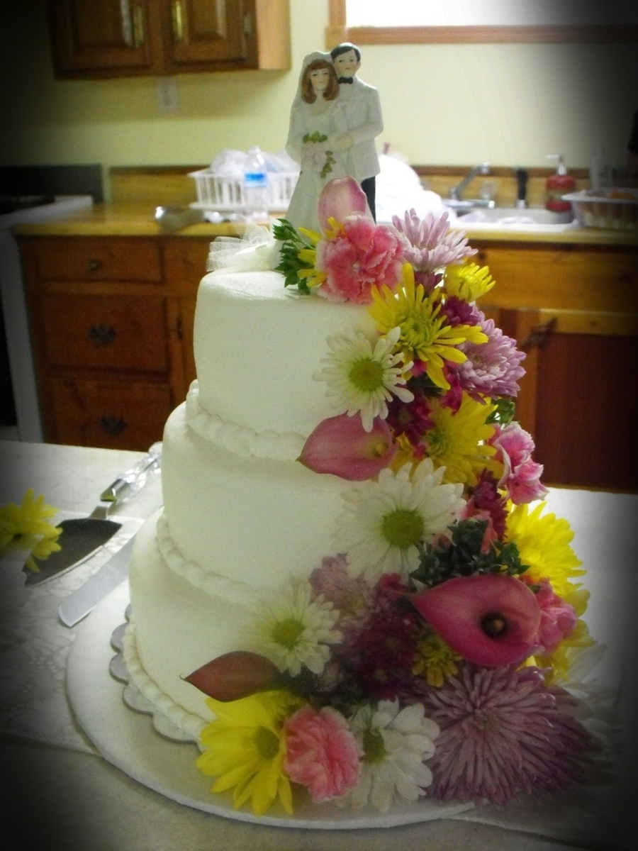 Katies Wedding Cake on Cake Central