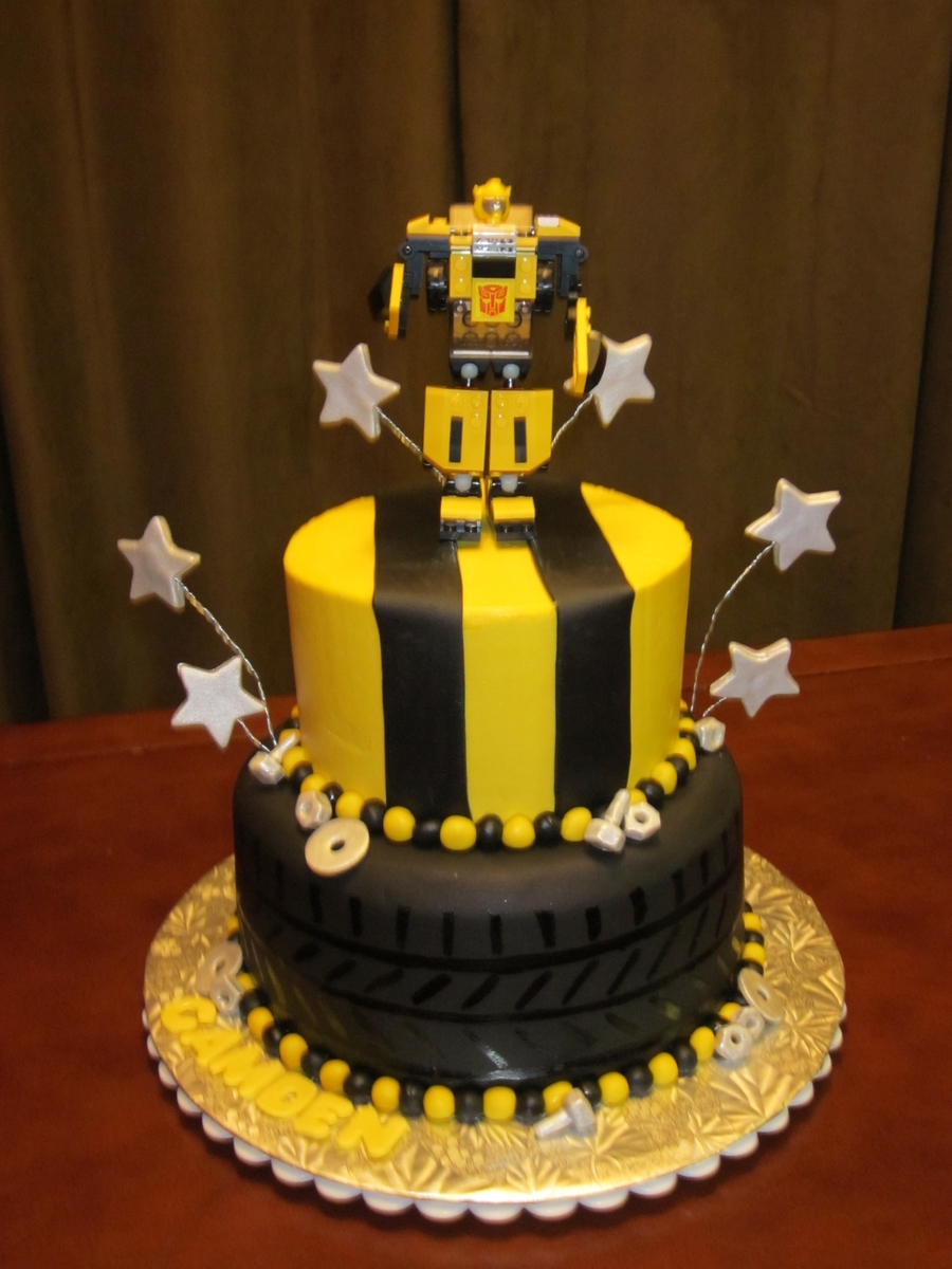Fantastic Bumblebee Transformer Cakecentral Com Personalised Birthday Cards Paralily Jamesorg