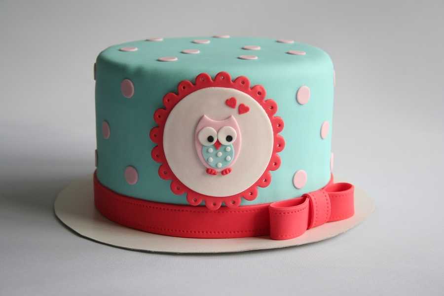 Owlways Love You ! on Cake Central