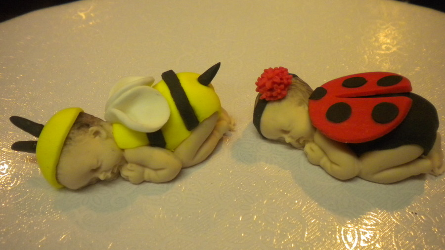 Bumble Bee And Lady Bug Cake Topper on Cake Central