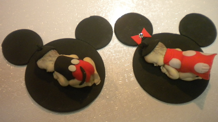Mickey And Minnie Mouse Cake Toppers on Cake Central