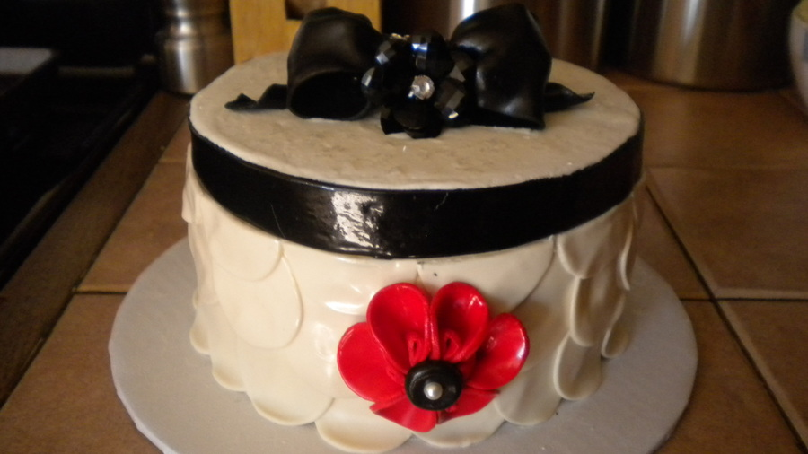 Balck, White And Red Cake on Cake Central